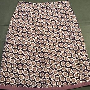 Boden Women's Floral Skirt Sz 6 R Beautiful!